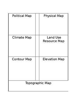 Types of Maps Interactive Notebook Insert