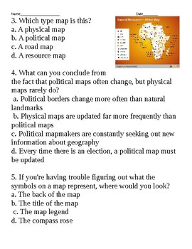 Types of Maps Multiple Choice Questions