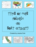 Types of Maps Sort and Foldable for Interactive Notebook
