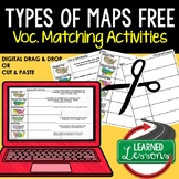 Types of Maps Vocabulary Matching for Distance Learning &