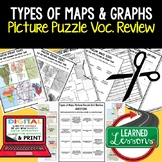 Types of Maps and Graphs Picture Puzzle, Test Prep, Unit R