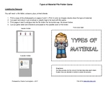 Types of Material - Science File Folder Game