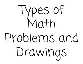 Math Expressions - Types of Math Problems and Drawings