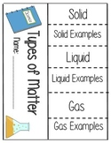 Types of Matter Flipbook