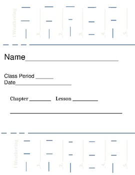 Types of Mechanical and Chemical Weathering Foldable Flip Book