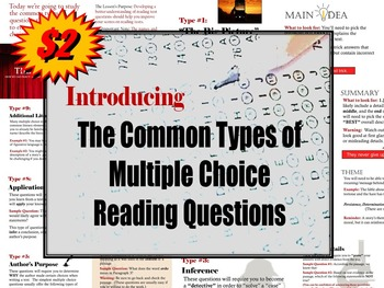Introducing Types of Multiple Choice Reading Questions (& Practice)
