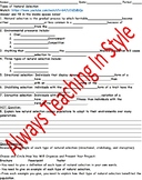Types of Natural Selection Video Worksheet (Editable)