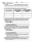 Types of Natural Selection Worksheet