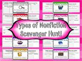 Types of Nonfiction Scavenger Hunt!