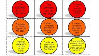 Types of Noun Bump Activities