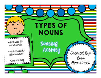 Types of Nouns {A Sorting Activity}