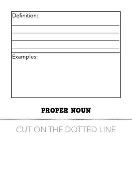 Types of Nouns Flip Book