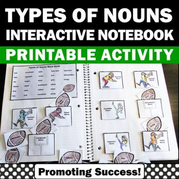 football nouns interactive notebook activity