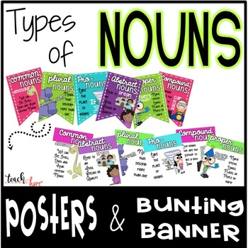 Types of Nouns Posters & Banner