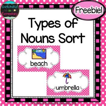 Types of Nouns Sort {Freebie!}