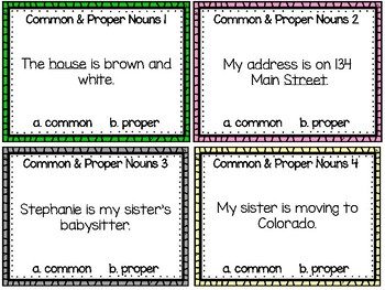 EDITABLE Types of Nouns Task Cards & Cooperative Learning Activities