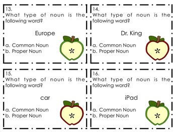 Types of Nouns Task Cards {Common, Proper, Concrete, Abstract}