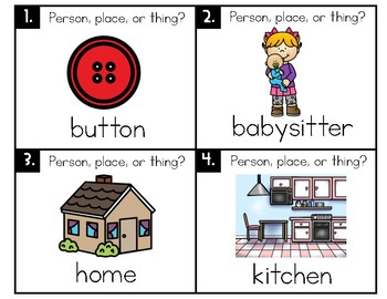 Types of Nouns Task Cards or Scoot