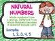 Types of Numbers Posters Middle School Math Melonheadz Clip Art