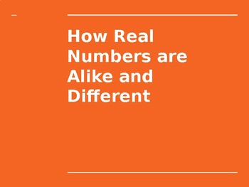 Types of Numbers PowerPoint