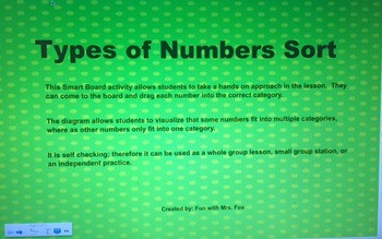 Types of Numbers Sort (rational, integers, whole numbers)