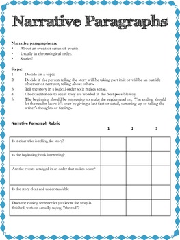 Types of Paragraphs Workbook