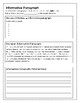 Types of Paragraphs Writing Booklet