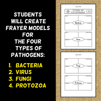 Types of Pathogens Foldable - Frayer Model Format