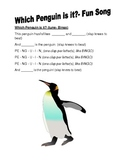 Types of Penguins- fun and easy vocabulary song with verses