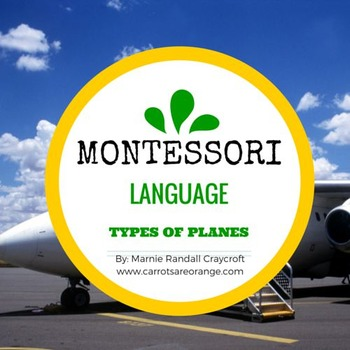 Montessori Types of Planes 3 Part Cards