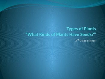 Types of Plants, Lesson 3