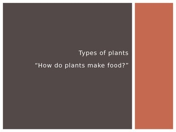 Types of Plants, Lesson 4