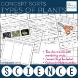 Types of Plants Science Concept Sorts