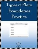 Types of Plate Boundaries Practice
