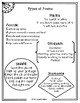 """Types of Poems Printable Poster 8 1/2"""" x 11"""""""