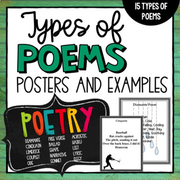 Types of Poems (White Background)