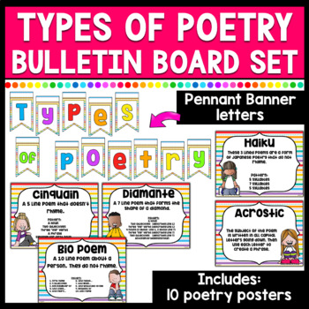 Types of Poetry Bulletin Board/Poster Set