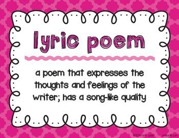 Types of Poetry ~ Poster Set FREEBIE!