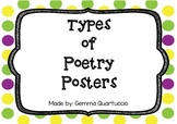 Types of Poetry Posters