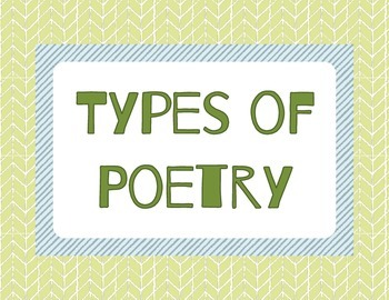 Types of Poetry Posters: Forest Theme