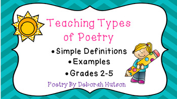 Types of Poetry PowerPoint