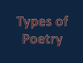 Types of Poetry Presentation FREEBIE