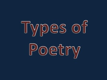Types of Poetry Presentation FREEBIE