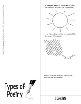 Types of Poetry—The Language Arts Flip Book Series