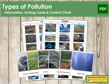 Types of Pollution: Cards & Chart