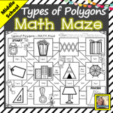 Types of Polygons Math Maze Free Digital Activity Distance Learning