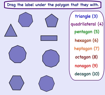 Types of Polygons Smartboard Math Lesson