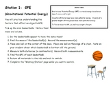 Types of Potential Energy Lab Station Activity
