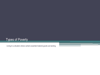 Types of Poverty Powerpoint