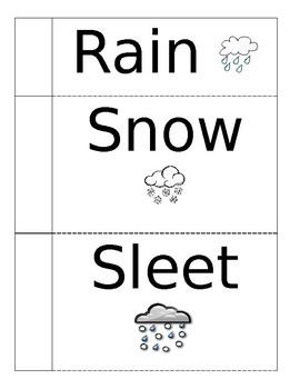 Types of Precipitation Flapbook